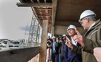 SAO PAULO, SP, 18 JULHO 2012 - VISTORIA OBRAS DO METRO E MONOTRILHO - Prefeito de Sao Paulo ao lado do Governador Geraldo Alckmin durante vistoria de inspeção as obras da futura Estacao e Patio Oratorio da Linha 2- Verde, Monotrilho, do Metro na regiao sudeste da capital paulista. FOTO: VANESSA CARVALHO - BRAZIL PHOTO PRESS.