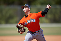 Miami Marlins pitcher Dylan Cyphert (79) during a Minor League Spring Training game against the St. Louis Cardinals on March 26, 2018 at the Roger Dean Stadium Complex in Jupiter, Florida.  (Mike Janes/Four Seam Images)
