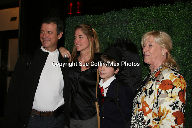 James DePaiva stars in Under Fire, the musical - a part of the New York Musical Theatre Festival on October 4, 2009 at The Theatre of St. Clements, New York City, New York. Wife Kassie and son JQ and James' mom Rosemarie attend the performance. (Photo by Sue Coflin/Max Photos)