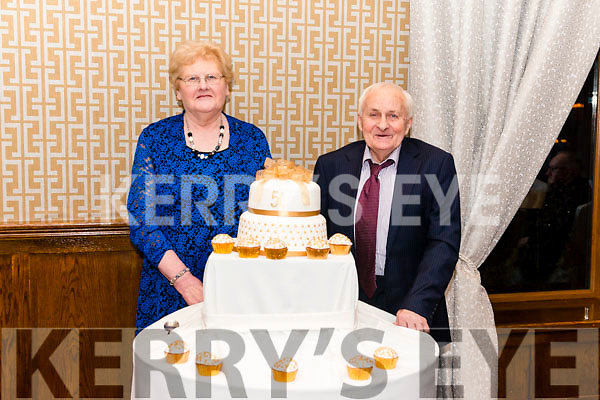 Mary and Denis Doyle from Beaufort celebrated their 50th Wedding Anniversary surrounded by friends and family in the Brehon Hotel, Killarney last Saturday night.