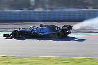 28th February 2020; Circuit De Barcelona Catalunya, Barcelona, Catalonia, Spain; Formula 1 Pre season Testing Week Two, Day 3; Mercedes AMG Petronas, Lewis Hamilton car smokes during intial laps