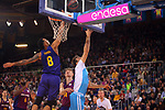 League ACB-ENDESA 2018/2019. Game: 14.<br /> FC Barcelona Lassa vs Monbus Obradoiro: 79-73.<br /> Adam Hanga vs Nacho Llovet.