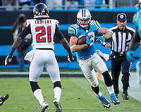 The Carolina Panthers defeated the Atlanta Falcons 34-10 in an inter-division rivalry played in Charlotte, NC at Bank of America Stadium.  Carolina Panthers tight end Greg Olsen (88)