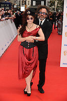 Helena Bonham Carter and Tim Burton arriving for the BAFTA Television Awards 2010 at the London Palladium. 06/06/2010  Picture by: Steve Vas / Featureflash