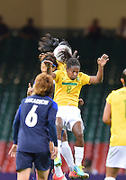 August 03, 2012 - Brazil's Formiga in action during group F match between JPN and BRA at the Millennium Stadium. .