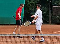 August 13, 2014, Netherlands, Raalte, TV Ramele, Tennis, National Championships, NRTK, Mens doubles:  Douwe Disbergen/Jeroen Gotworst<br /> Photo: Tennisimages/Henk Koster