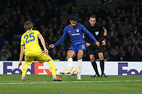 Chelsea's Ruben Loftus-Cheek scores his side's third goal <br /> <br /> Photographer Rob Newell/CameraSport<br /> <br /> UEFA Europa League Group L - Chelsea v FC BATE Borisov - Thursday 25th October - Stamford Bridge - London<br />  <br /> World Copyright © 2018 CameraSport. All rights reserved. 43 Linden Ave. Countesthorpe. Leicester. England. LE8 5PG - Tel: +44 (0) 116 277 4147 - admin@camerasport.com - www.camerasport.com