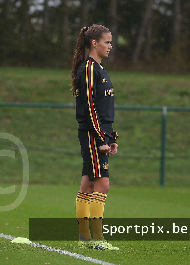 20191006 TUBIZE: Red Flames' Shari van Belle is pictured at the Open Training of Red Flames on Sunday 6th of October 2019, Tubize, Belgium PHOTO SPORTPIX.BE   SEVIL OKTEM