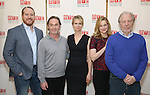 Darren Goldstein, Richard Thomas, Cynthia Nixon, Laura Linney and Michael McKean attends the cast photo call for the Manhattan Theatre Club's New Broadway Production of 'The Little Foxes' at the MTC Rehearsal studios on February 27, 2017 in New York City.