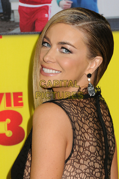 "Carmen Electra.""Movie 43"" Los Angeles Premiere held at Grauman's Chinese Theatre, Hollywood, California, USA..January 23rd, 2013.half length black sleeveless lace side looking over shoulder.CAP/ADM/BP.©Byron Purvis/AdMedia/Capital Pictures."