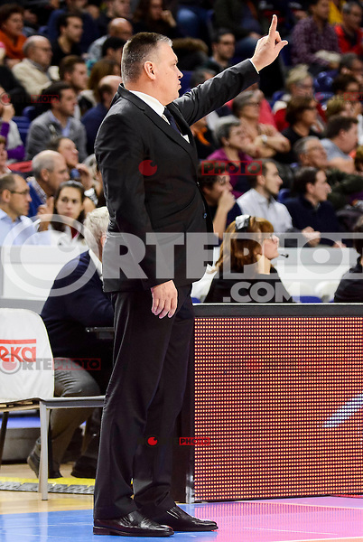 Unics Kazan's coach Evgeny Pashutin during match of Turkish Airlines Euroleague at Barclaycard Center in Madrid. November 24, Spain. 2016. (ALTERPHOTOS/BorjaB.Hojas) //NORTEPHOTO