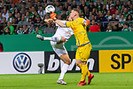 10.08.2019, wohninvest Weserstadion, Bremen, GER, DFB-Pokal, 1. Runde, SV Atlas Delmenhorst vs SV Werder Bremen<br /> <br /> DFB REGULATIONS PROHIBIT ANY USE OF PHOTOGRAPHS AS IMAGE SEQUENCES AND/OR QUASI-VIDEO.<br /> <br /> im Bild / picture shows<br /> <br /> Niclas Füllkrug / Fuellkrug (Werder Bremen #11)<br /> Florian Urbainski (SV Atlas Delmenhorst #01)<br /> <br /> Foto © nordphoto / Kokenge