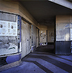 An abandoned movie theater box office in Los Angeles