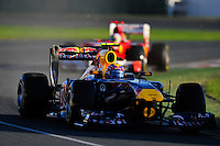 MELBOURNE, 27 MARCH - Mark Webber (Australia) driving the Red Bull Racing car (2) at the 2011 Formula One Australian Grand Prix at the Albert Park Circuit, Melbourne, Australia. (Photo Sydney Low / syd-low.com)