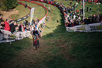 Elite Men CX World Champion Wout van Aert (BEL/Cibel-Cebon) storming up the hill<br /> <br /> GP Mario De Clercq / Hotond cross 2018 (Ronse, BEL)<br /> photo &copy;kramon