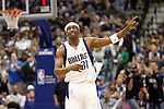 Dallas Mavericks' Jason Terry reacts in the first half of an NBA basketball game against New Orleans at American Airlines Center in Dallas on February 28, 2010.   (Photo by Khampha Bouaphanh)