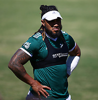 DURBAN, SOUTH AFRICA -Monday February 18th: Ma'a Nonu of the Blues during the Blues Training at Northwood School Durban North, on February 18th, 2019 in Durban, South Africa. (Photo by Steve Haag / stevehaagsports.com)