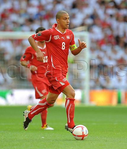 04 06 2011  Football International euro 2012 Qualification Group A 04 06 2011 England Switzerland Gokhan Inler Switzerland