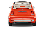 Straight rear view of 2016 Fiat 500-C Lounge 2 Door Convertible Rear View  stock images