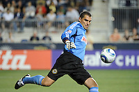 Philadelphia Union goalkeeper Faryd Mondragon (1). The Philadelphia Union and the Houston Dynamo played to a 1-1 tie during a Major League Soccer (MLS) match at PPL Park in Chester, PA, on August 6, 2011.