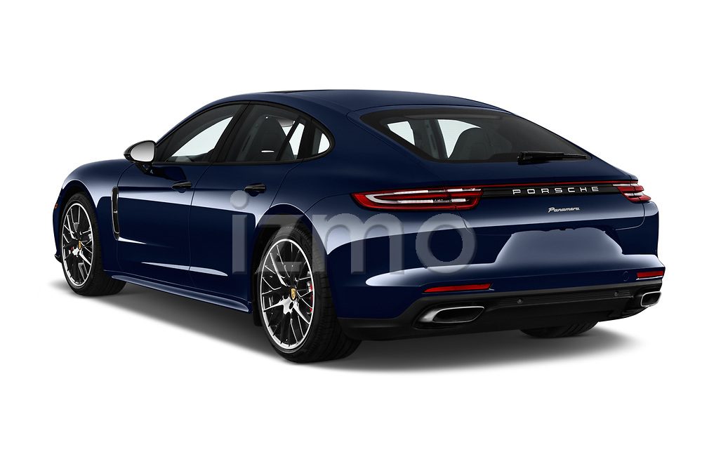 Car pictures of rear three quarter view of a 2018 Porsche Panamera Turbo Base 5 Door Hatchback angular rear