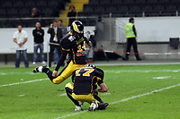 Benjamin Scharweit (Berlin) beim Field Goal<br /> German Bowl XXXI Berlin Adler vs. Kiel Baltic Hurricanes, Commerzbank Arena *** Local Caption *** Foto ist honorarpflichtig! zzgl. gesetzl. MwSt. Auf Anfrage in hoeherer Qualitaet/Aufloesung. Belegexemplar an: Marc Schueler, Alte Weinstrasse 1, 61352 Bad Homburg, Tel. +49 (0) 151 11 65 49 88, www.gameday-mediaservices.de. Email: marc.schueler@gameday-mediaservices.de, Bankverbindung: Volksbank Bergstrasse, Kto.: 151297, BLZ: 50960101
