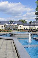 Brunnen im Kurpark von Drusininkai, Litauen, Europa