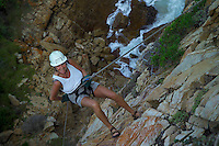 KNYSNA, SOUTH AFRICA, DECEMBER 2004. Abseiling from the Knysna Heads. South African Nature offers some of the world's best adrenaline sports and outdoor challenges. Photo by Frits Meyst/Adventure4ever.com