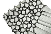 New York, NY, USA - December 14, 2011: Origami tessellation work in progress by Esmé Cribb.