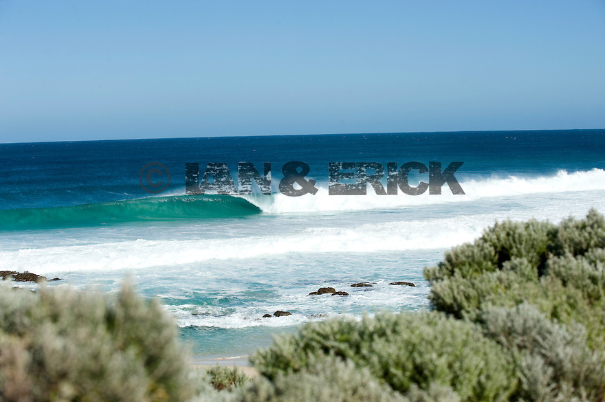 Line up of Honeycombs break in Margaret River, Western Australia.