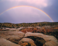 Rainbow & Arch at Sunset, Rattlesnake Canyon WSA, Colorado