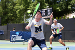 13 May 2016: Michigan's Tyler Gardiner. and Myles Schalet (behind). The University of Michigan Wolverines played the East Tennessee State University Buccaneers at the Wake Forest Tennis Center in Winston-Salem, North Carolina in a 2015-16 NCAA Division I Men's Tennis Tournament First Round match. Michigan won the match 4-3.