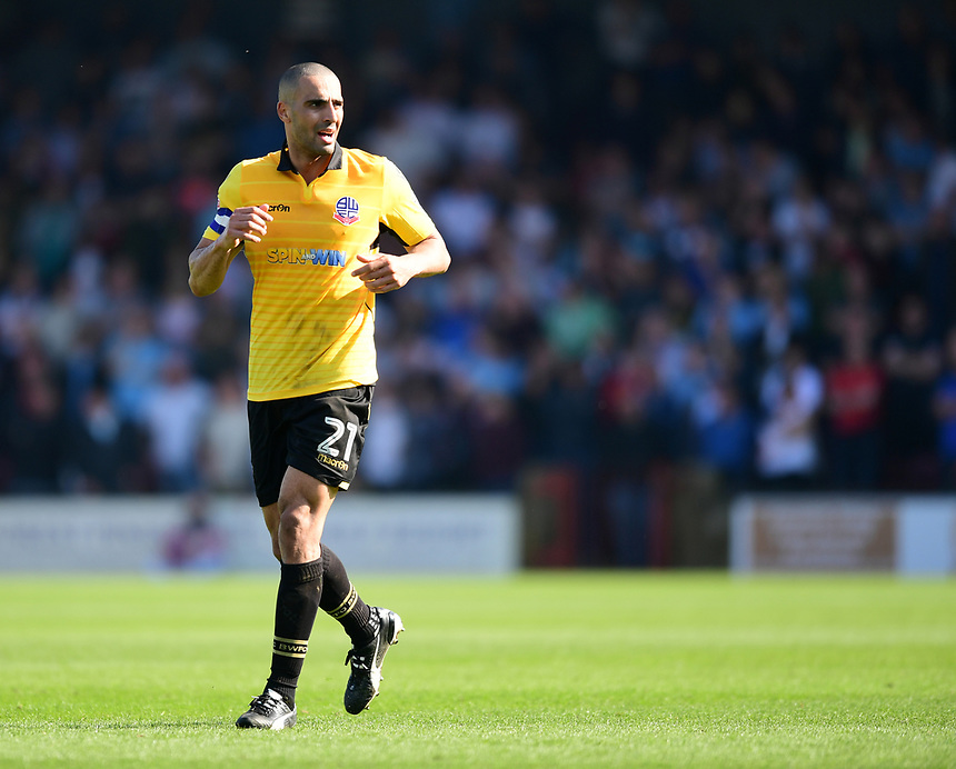 Bolton Wanderers' Darren Pratley<br /> <br /> Photographer Chris Vaughan/CameraSport<br /> <br /> The EFL Sky Bet League One - Scunthorpe United v Bolton Wanderers - Saturday 8th April 2017 - Glanford Park - Scunthorpe<br /> <br /> World Copyright &copy; 2017 CameraSport. All rights reserved. 43 Linden Ave. Countesthorpe. Leicester. England. LE8 5PG - Tel: +44 (0) 116 277 4147 - admin@camerasport.com - www.camerasport.com