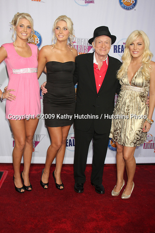 Kristina & Karissa Shannon, Hugh Hefner, & Crystal Harris.arriving at the 2009 Fox Reality Channel Really Awards.The Music Box at Fonda Theater.Los Angeles,  CA.October 13,  2009.©2009 Kathy Hutchins / Hutchins Photo.