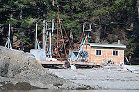 Reefnet Fishing Gear On Beach, Stuart Island, Washington, US