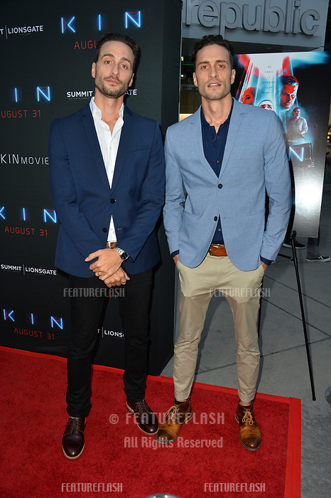 "LOS ANGELES, CA. August 29, 2018: Jonathan Baker & Josh Baker at the premiere of ""KIN"" at the Arclight Theatre, Hollywood."