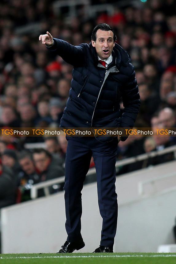 Arsenal Head Coach, Unai Emery during Arsenal vs Napoli, UEFA Europa League Football at the Emirates Stadium on 11th April 2019