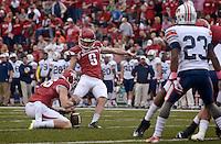 NWA Democrat-Gazette/BEN GOFF @NWABENGOFF<br /> Arkansas vs UT-Martin football on Saturday Oct. 31, 2015 in Razorback Stadium in Fayetteville.