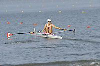 Brest, Belarus.  CAN BLW1X, Catherine BOUCHARD-PILOTE. at the start.  2010. FISA U23 Championships. Thursday,  22/07/2010.  [Mandatory Credit Peter Spurrier/ Intersport Images]