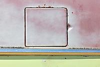 Detail of Austin car in ghost town<br /> Neidpath<br /> Saskatchewan<br /> Canada