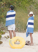 Olivia Palermo and Johannes Huebl very much in love while sunbathing in Saint Barths