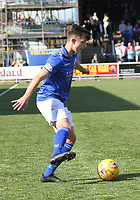 Connor Murray in the SPFL Ladbrokes Championship Play Off semi final match between Queen of the South and Montrose at Palmerston Park, Dumfries on  11.5.19.