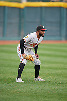 Altoona Curve outfielder Bralin Jackson (5) during an Eastern League game against the Erie SeaWolves on June 5, 2019 at UPMC Park in Erie, Pennsylvania.  Altoona defeated Erie 6-2.  (Mike Janes/Four Seam Images)
