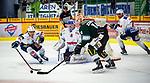 Benjamin ZIENTEK (#14 Bietigheim Steelers) \Mirko PANTKOWSKI (#30 Heilbronner Falken) \Greg GIBSON (#91 Heilbronner Falken) \ beim Spiel in der DEL2, Bietigheim Steelers (dunkel) -  Heilbronner Falken (hell).<br /> <br /> Foto © PIX-Sportfotos *** Foto ist honorarpflichtig! *** Auf Anfrage in hoeherer Qualitaet/Aufloesung. Belegexemplar erbeten. Veroeffentlichung ausschliesslich fuer journalistisch-publizistische Zwecke. For editorial use only.
