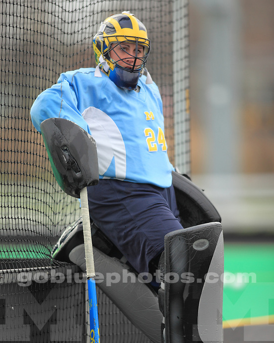 The University of Michigan field hockey team defeated Indiana, 3-0, to advance to the title game in 2012 Big Ten Tournament in Iowa City, Iowa, on November 2, 2012.