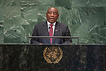 DSG meeting<br /> <br /> AM Plenary General DebateHis<br /> <br /> <br /> His Excellency Matamela Cyril Ramaphosa, President, Republic of South Africa