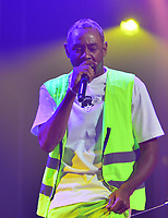MIAMI, FL - FEBRUARY 12: Tyler, the Creator performs onstage at James L Knight Center on February 12, 2018 in Miami, Florida.  Credit: MPI10 / MediaPunch