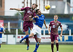 Queen of the South v St Johnstone&hellip;18.08.18&hellip;  Palmerston    BetFred Cup<br />Murray Davidson in his 300th game for saints pictured with Kyle Jacobs<br />Picture by Graeme Hart. <br />Copyright Perthshire Picture Agency<br />Tel: 01738 623350  Mobile: 07990 594431