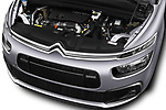 Car Stock 2017 Citroen C4-Picasso Shine 5 Door Mini Mpv Engine  high angle detail view