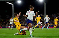Nikita Parris of England goes through on goal during the Women's International friendly match between England Women and Australia at Ashton Gate, Bristol, England on 9 October 2018. Photo by Bradley Collyer / PRiME Media Images.